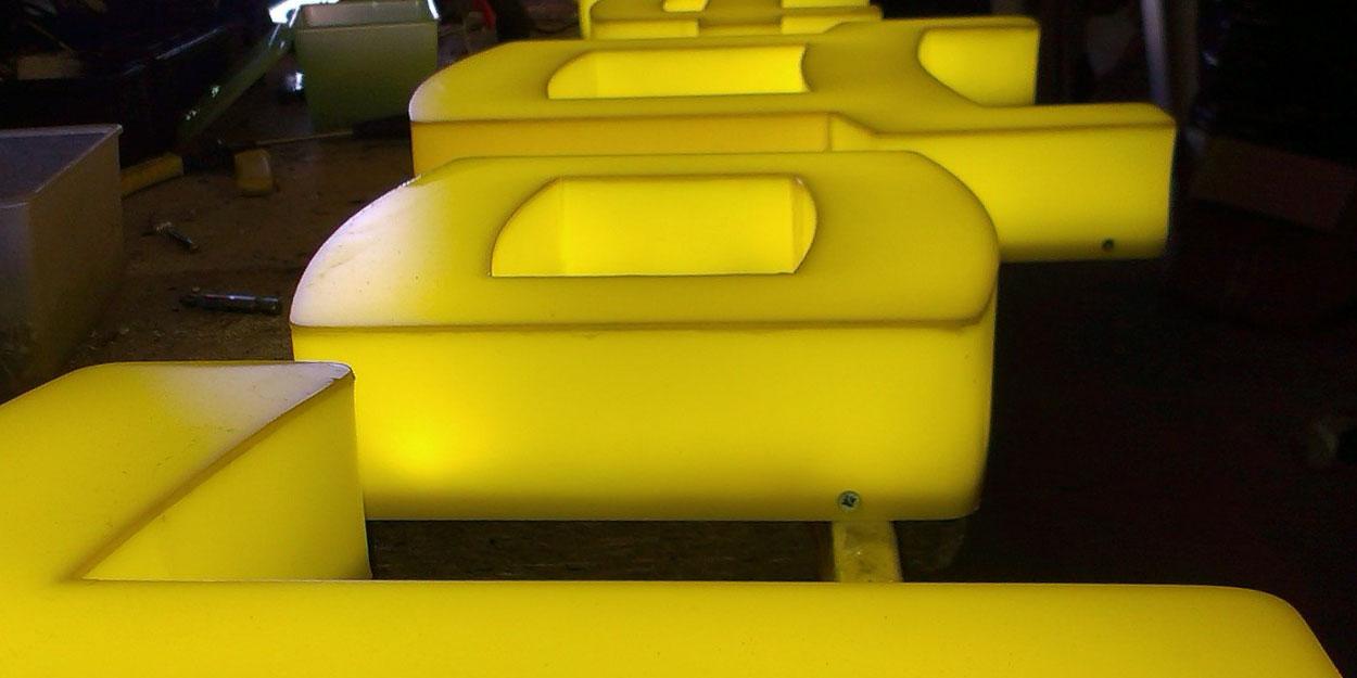 Комбинированная подсветка объемных букв